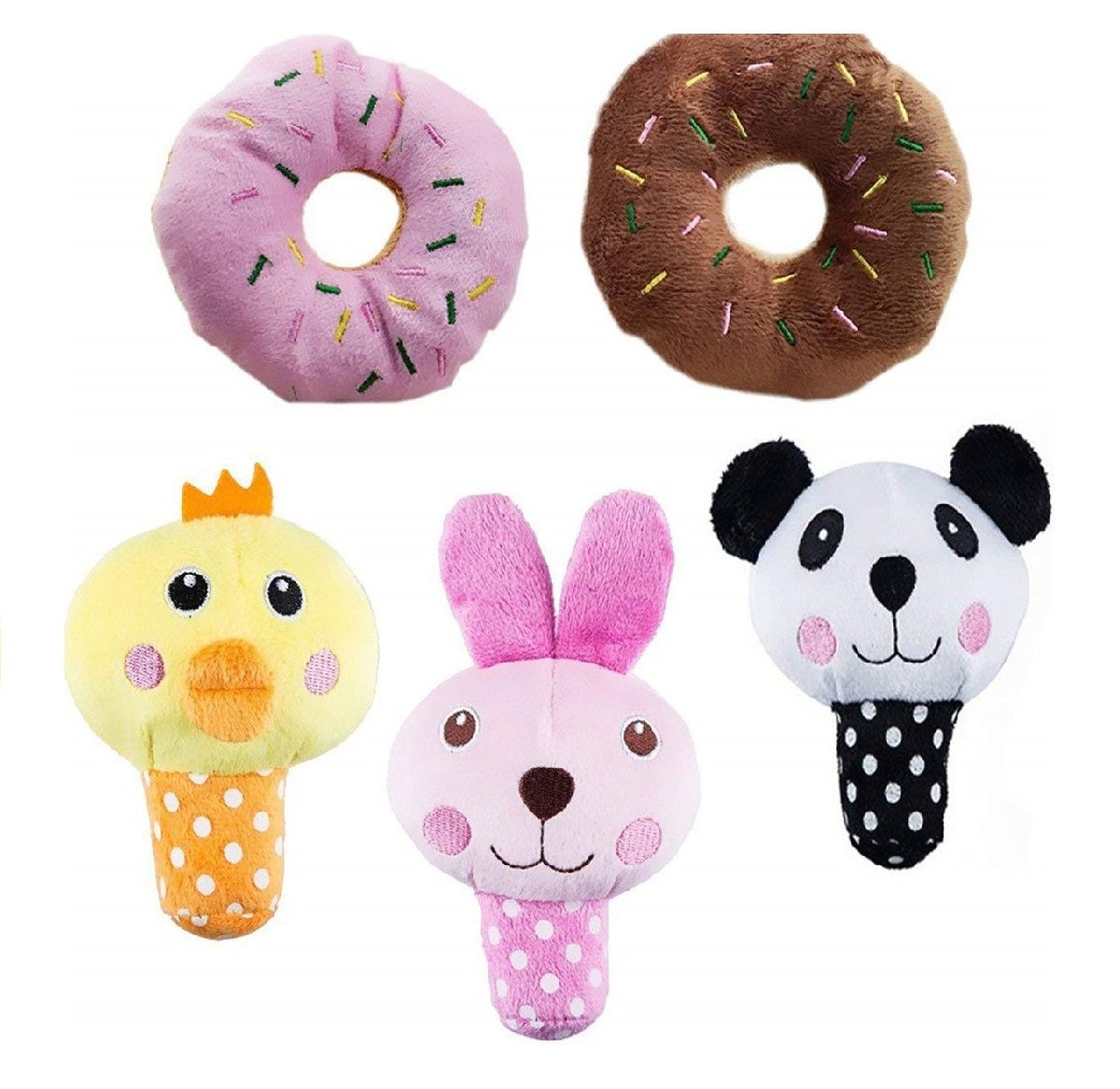 Pack 5 Peluche Puppy Dog Toys