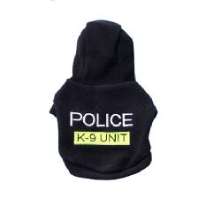 SUDADERA NEGRA POLICE chihuahua
